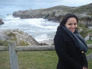 Toda encolhida em Santander: com certeza, eu tinha 'piel de gallina' nessa hora, rs!