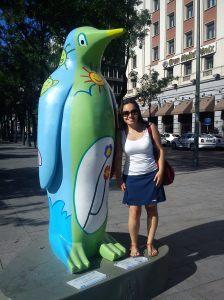 Fritando em Madrid! (só um pinguim desse pra resistir)