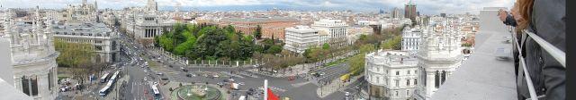 Vista desde el mirador del Palacio de Cibeles