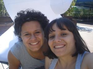 Hermanita e eu no terraço