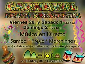Festas no bar brasileiro Maloka com marchinha e frevo <3
