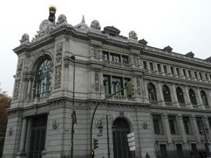 O edifício do Banco de Espanha, bem na Plaza de CIbeles