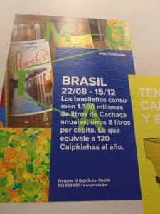 Cartazes sobre a cultura e gastronomia do Brasil