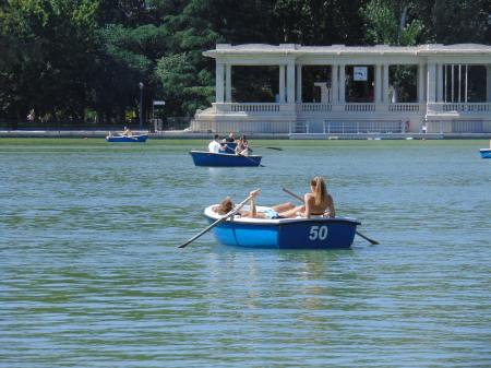 Parque do Retiro no verão