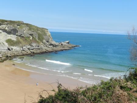 Ah, a tranquilidade do litoral norte da Espanha